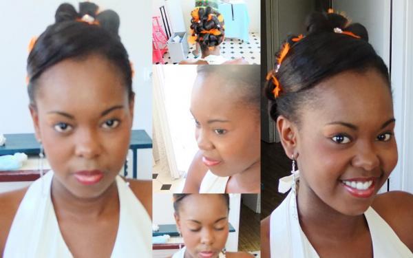 maquillage et chignon